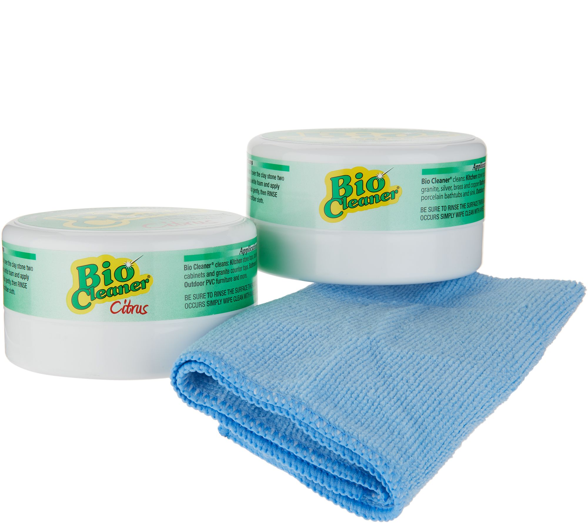 Bio Cleaner Set of 2 Multipurpose Cleaning Clay with Cloth — QVC com