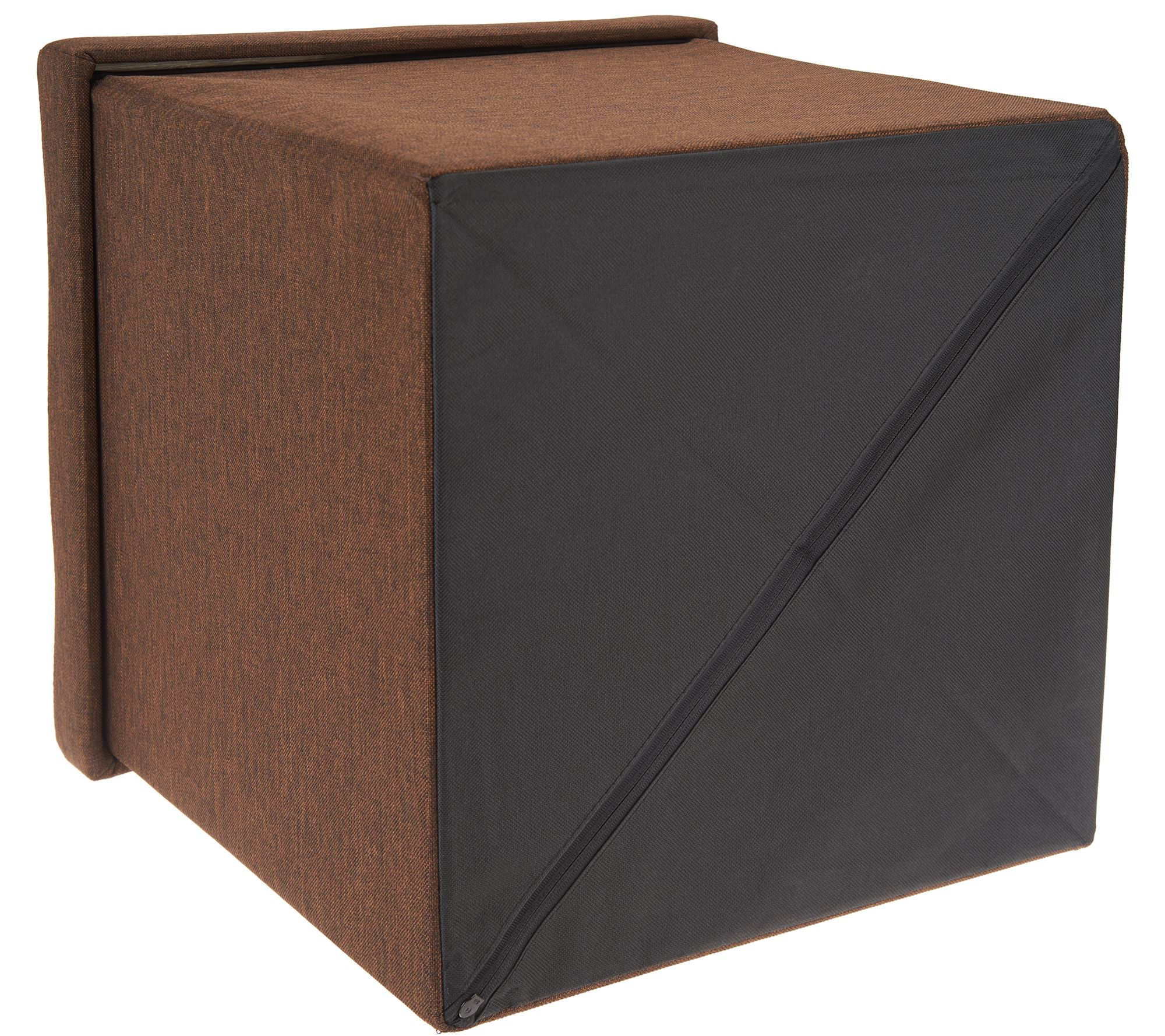 Super Fresh Home Elements Tufted Set Of 2 15 Folding Ottomans W Tray Qvc Com Ibusinesslaw Wood Chair Design Ideas Ibusinesslaworg