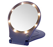 Floxite 5x Magnifying 360 Degree Lighted Home & Travel Mirror - V32466
