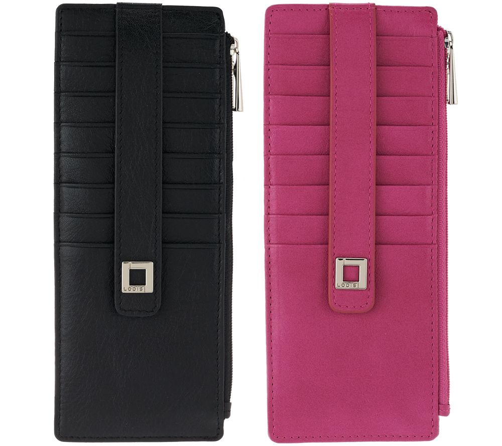 new styles 42ab8 7f736 LODIS Set of 2 Italian Leather Credit Card Cases w/ RFID Protection —  QVC.com