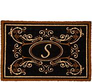 2 x 3 Outdoor Tri-Color Monogram Initial Coir Doormat - V35572