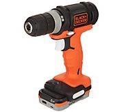 Black & Decker 12V Cordless Drill with GOPAK Battery - V35273