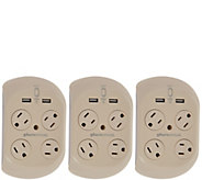 Revolve 3.4 S/3 Surge Protectors w/ 4 Outlets & 2 USB Ports - V34974