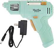 Martha Stewart 4V Rechargeable Screwdriver w/ 6 Built-in Bits & LED Light - V35274