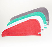 Turbie Twist Set of 4 Solid 100Cotton Hair Towels - V36374