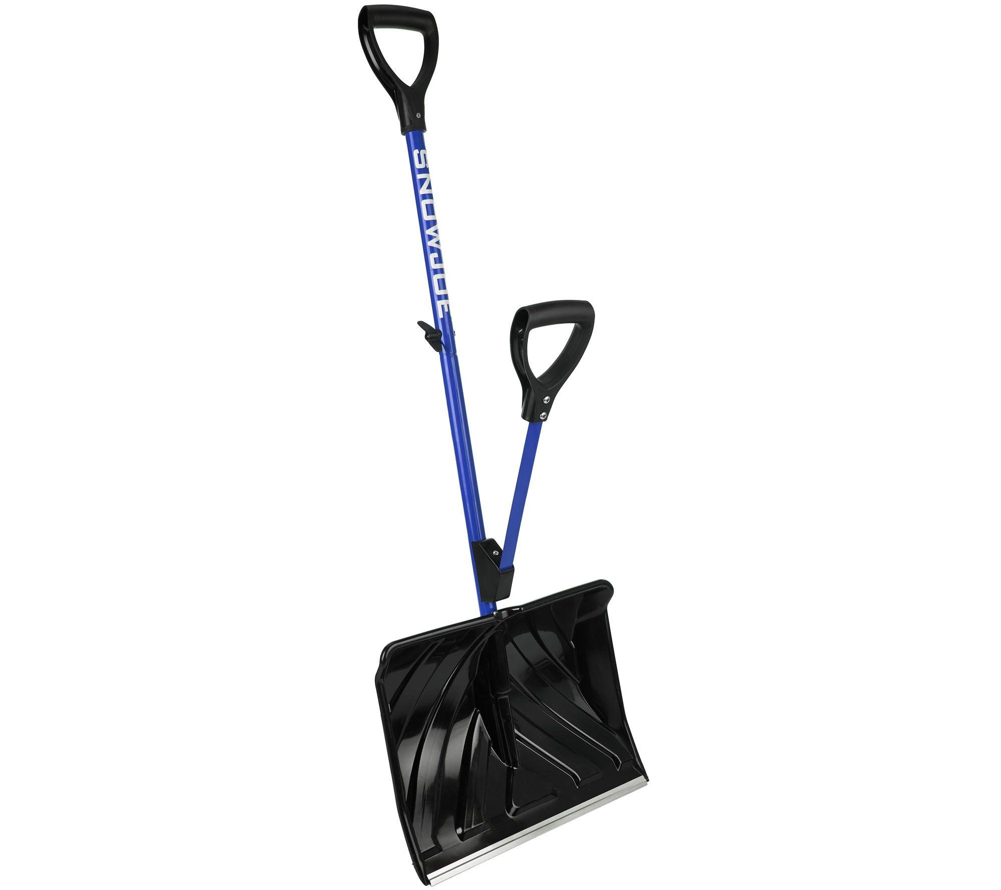 snow joe shovelution snow shovel with spring assist handle — qvc
