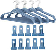 Clutterfree Set of 50 Universal Hangers and Clip Set - V35587