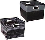 High Road Set of 2 Cargo Cube Trunk Storage Bins - V35489