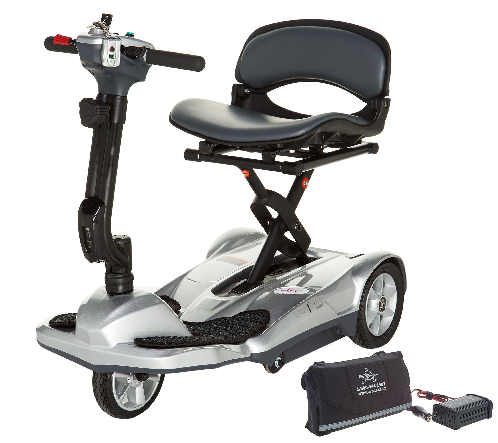 EV Rider Portable Auto Folding Scooter w/Car Charger & Tiller Bag — QVC com