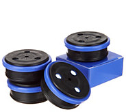 Set of 4 Multi-Purpose Magnetic Disc Lights w/ Batteries - V34997