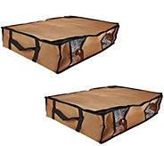 SuperPack Set of 2 Under Bed Compression Bags w/ Totes - V33698