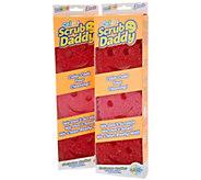 Scrub Daddy Set of 6 Flex Texture Sponge Set - V35698