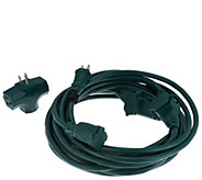 Snow Joe Indoor/Outdoor 25 Extension Cord with 5 Outlets - V34899