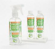 Eat Cleaner Fruit & Veggie 12-oz Wash with (2) Concentrate Refills - V36199
